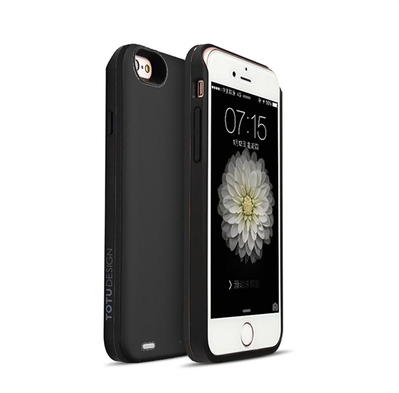 acumulator extern cu incarcare wireless pentru iphone 6 plus, 6s plus 2400mah negru