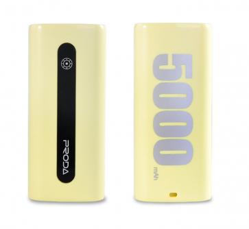 Baterie externa Proda E5 Series 5000mAh Galben