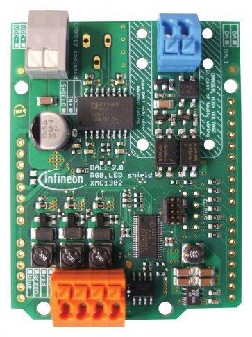 Placă evaluare, Shield Iluminare 3CH RGB LED