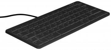 Tastatură oficială Raspberry pi, negru / gri, aspect spaniol