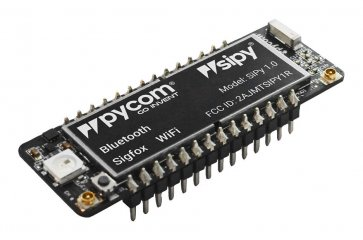 Placă de dezvoltare, modul SiPy, ESP32 SoC, WiFi, BLE, Sigfox