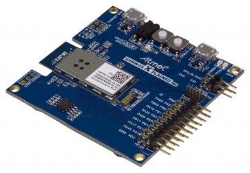 Placa de evaluare, platforma hardware wireless pentru evaluarea modulului Wi-Fi Atmel