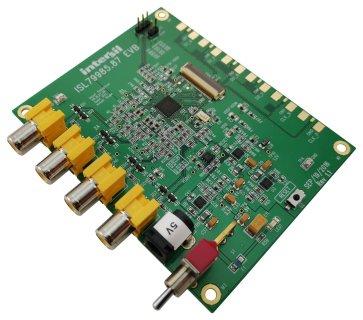 Placă de evaluare, decodificator analogic ISL79987, 4 x decodere, NTSC, PAL, SECAM