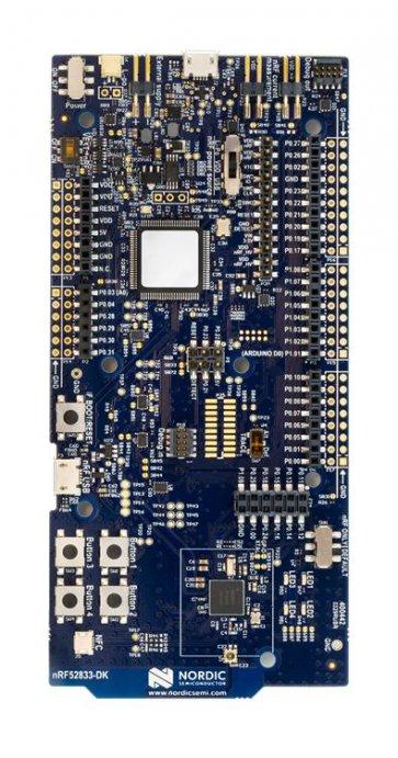 Kit dezvoltare NRF52833-DK Bluetooth energie redusă SOC