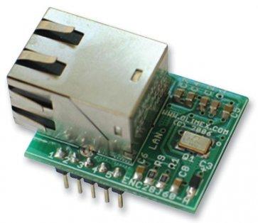 Placa de dezvoltare, controler Ethernet ENC28J60