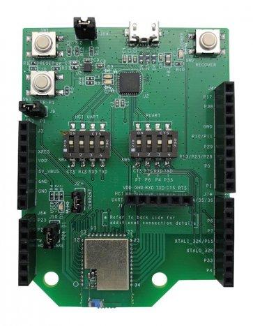 Placă de evaluare, modul inteligent Bluetooth WICED CYBT-483039