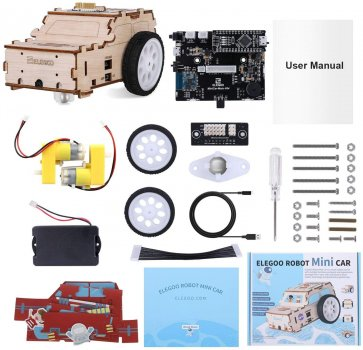 Kit Robot Elegoo Minicar compatibil cu Arduino IDE