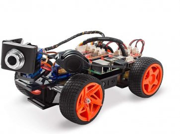 Kit mașină inteligentă cu video Rounder Sunflower V2.0 pentru Raspberry Pi