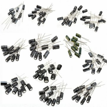 Set 120 condensatori electrolitici