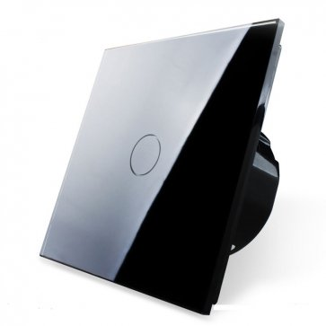 Întrerupător simplu touch screen negru Wi-Fi
