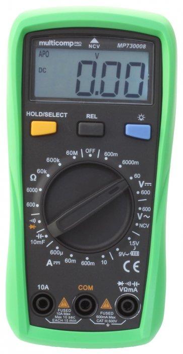 Multimetru Digital MULTICOMP PRO MP730008