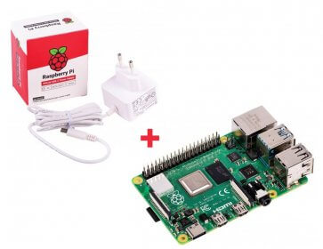 Raspberry Pi 4 Model B 2Gb + Sursă Alimentare - Pachet Promo