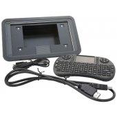 """Carcasă ecran tactil 7"""" + Tastatură Wi-fi Raspberry Pi"""