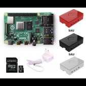 Raspberry Pi 4 Model B 2Gb cu încărcător, card și carcasă- Protected Package