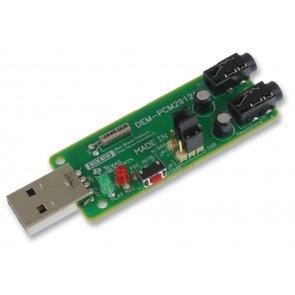 Modul de evaluare, codec audio alimentat bus PCM2912A, interfață USB