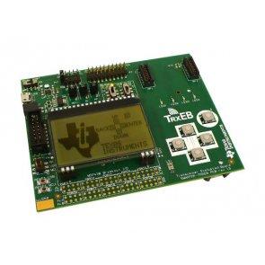 Placă de evaluare, MSP430F5438A MCU, emițător SmartRF, 64x128 LCD, 5 butoane push, putere redusă