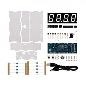 Kit electronic ceas cu termometru DIY Rosu