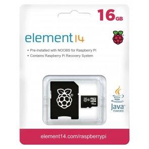 Card memorie MicroSD de 16GB, preîncărcat cu NOOBS