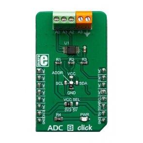 Placă convertor Click ADC 8