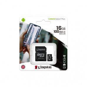 MicroSD Kingston 16gb Canvas Select Plus cu adaptor SD