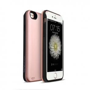 Acumulator extern cu incarcare wireless pentru iPhone 6,6S 2400mAh Rose Gold