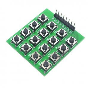 4x4 mátrix gombok