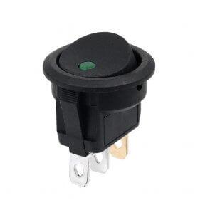 Buton cu LED verde