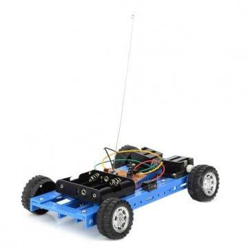 Mașină inteligentă albastră 4 roți