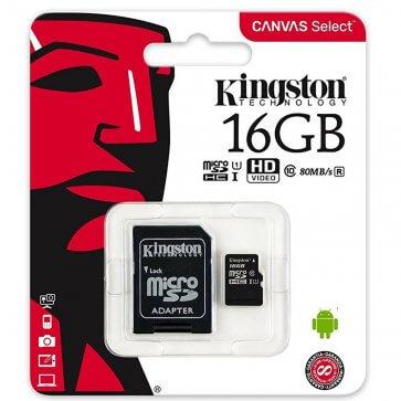 MicroSD Kingston 16gb cu adaptor SD