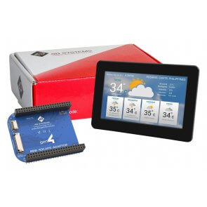 "Modul ecran tactil LCD 5""  și adaptor Beaglebone"
