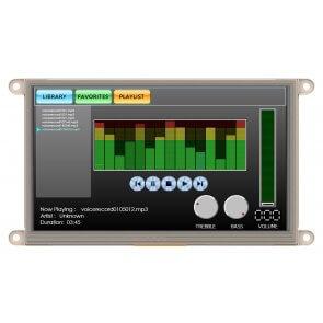 "Modul ecran tactil LCD 7""  și adaptor Beaglebone"