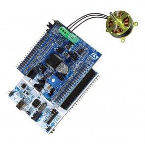 Kit dezvoltare P-NUCLEO-IHM001 cu MCU STM32F302R8 și Driver motor L6230