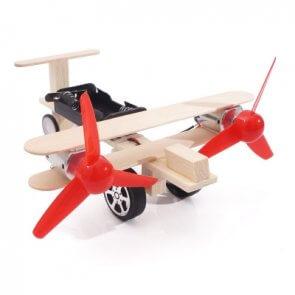 Avion educațional jucărie 2 motoare DIY